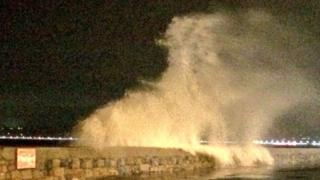 Stormy seas in Jersey, 31 January 2014