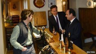 Prime Minister David Cameron and President Francois Hollande