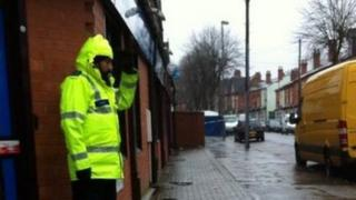 Police officer in Thornhill Road