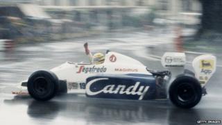 Ayrton Senna in his Toleman-Hart TG184 - 1984
