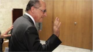 Sao Paulo's governor Geraldo Alckmin