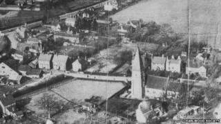 Historic aerial view of Lowfield Heath