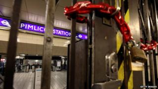 Pimlico Station locked up during in 2010