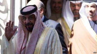 Sheikh Khalifa bin Zayed Al Nahyan in London (1 May 2013)