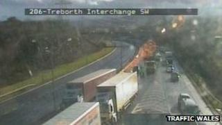 A55 J9 Treborth interchange