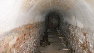 The air raid shelter