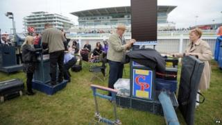 Bookmaker at race meeting