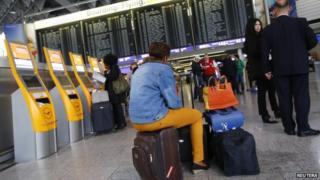 Passenger in Frankfurt (file pic 2013)