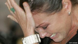 Schapelle Corby bursts in tears as she is sentenced to 20 years in jail in Bali on 27 May 2005