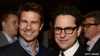 Tom Cruise with JJ Abrams