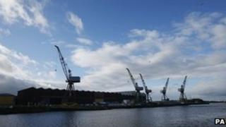 BAE shipyard in Govan, Glasgow