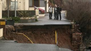 Damage in Dawlish