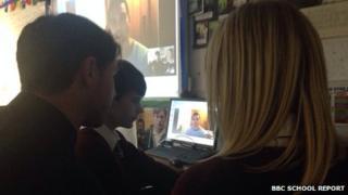 School Reporters interviewing George North via Skype
