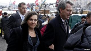 Victoria Nuland and Geoffrey Pyatt, Kiev, 10 December