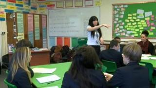 A lesson at St Ives School