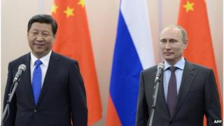 The leaders of China and Russia were all smiles in Sochi