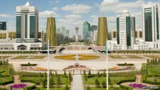 A view of the Kazakh capital Astana