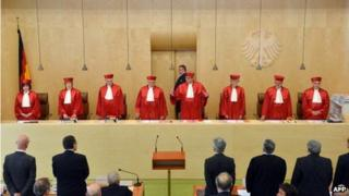 A hearing at Germany's Constitutional Court