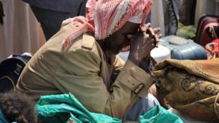 A Muslim man in CAR at Bangui airport, CAR