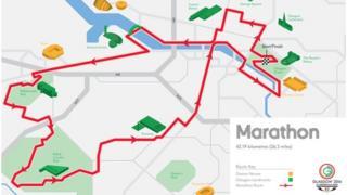 Glasgow 2014 marathon route