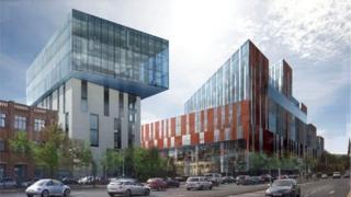 An artist's impression of the university's development plan
