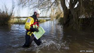 man in floods