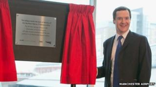 George Osborne at Manchester Airport