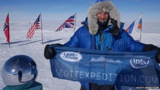 Ben Saunders at the South Pole, February 2014