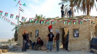 Palestinian activists at Ein Hijleh