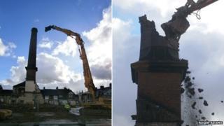 Slimma tower demolition