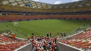 Manaus football stadium, 22 Jan 14