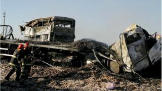 Bus crash near Mendoza, Argentina
