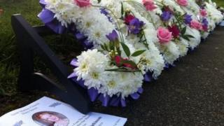 flowers at Jayden Parkinson's funeral