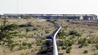 SUI, PAKISTAN: A view of the country's biggest gas plant