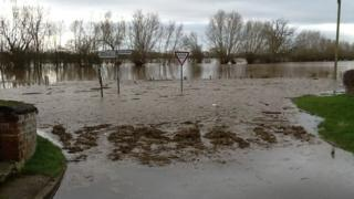 Flooded village of Chaceley
