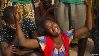 Woman weeping