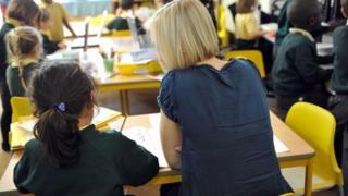 Teacher in classroom