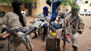 Mujao fighters in Gao, Mali, in July 2012