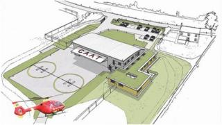 Wiltshire Air Ambulance proposed helicopter base