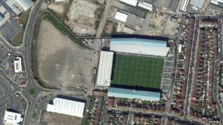 Aerial view of Fratton Park
