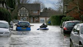 Flooding in Chertsey