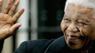 Mandela during a visit to the UK, 2004