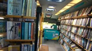 Mobile library service in Devon