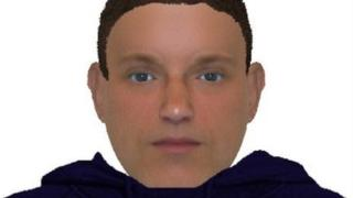 Police e-fit of suspect