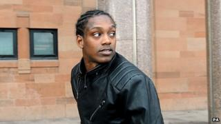 Nile Ranger outside Newcastle Magistrates Court in October 2013
