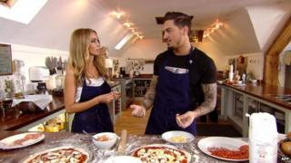 Lauren Pope and Mario Falcone in a scene from The Only Way is Essex