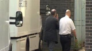 John Allen arriving in court