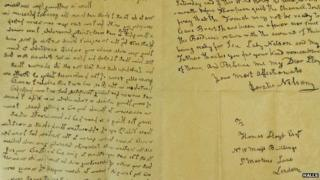 Letter from Lord Nelson to Thomas Lloyd