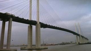 The QE2 Thames bridge Dartford River Crossing