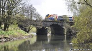 Derwent Bridge, north of the A6, Derby